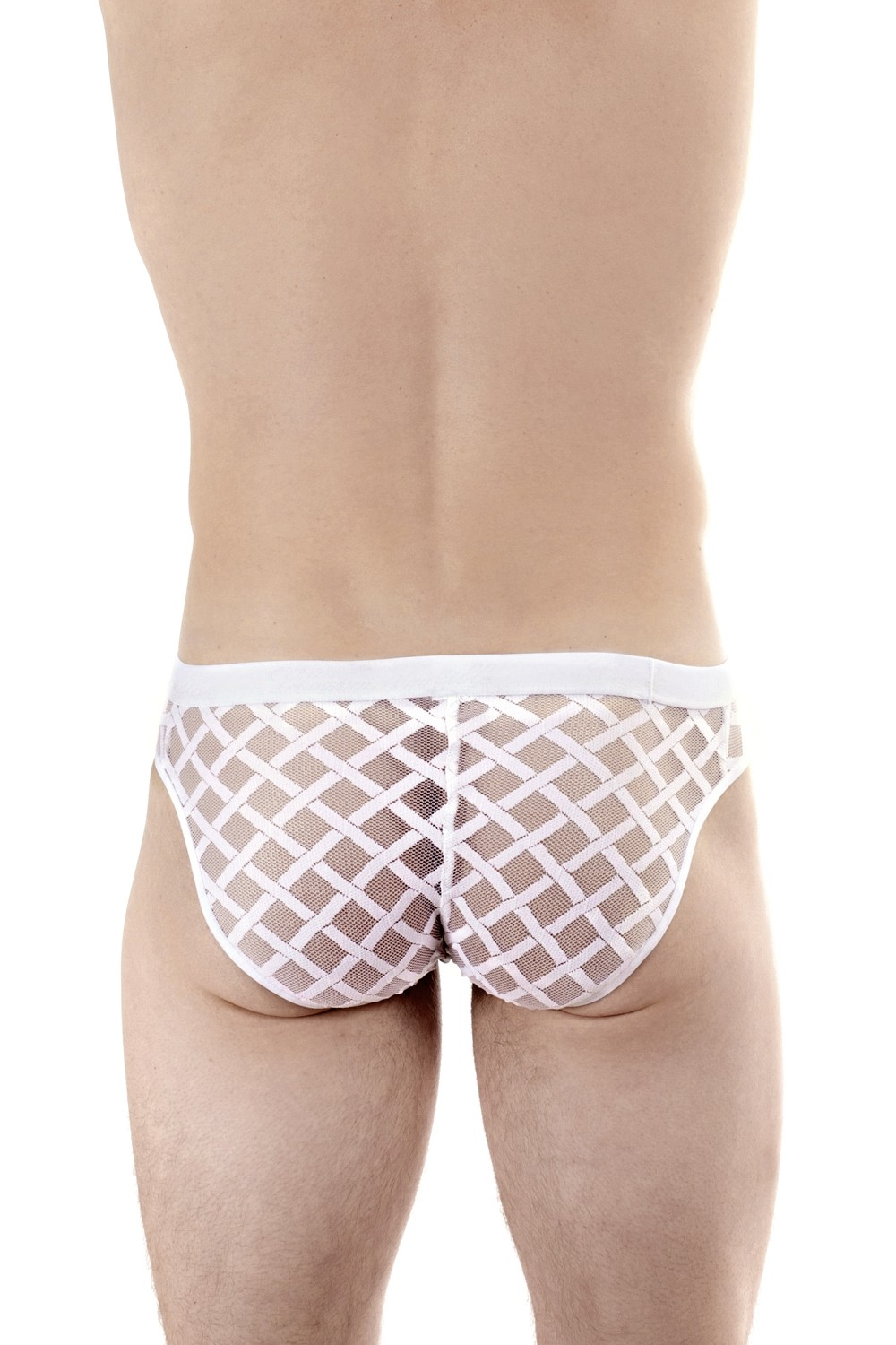 9b38d62d2d19 Nightcall Sexy Back Briefs white | L'Homme invisible Mens Lace ...