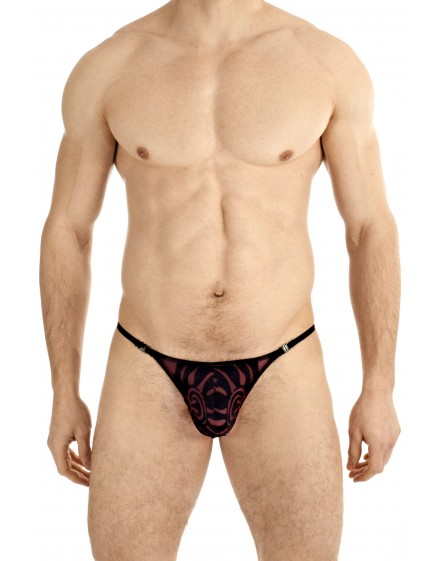 Velours Mystique- String Bordeaux