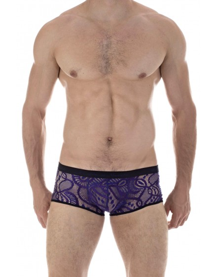 O life - Mini Hipster Lilac, mens ultra short boxer briefs in lace