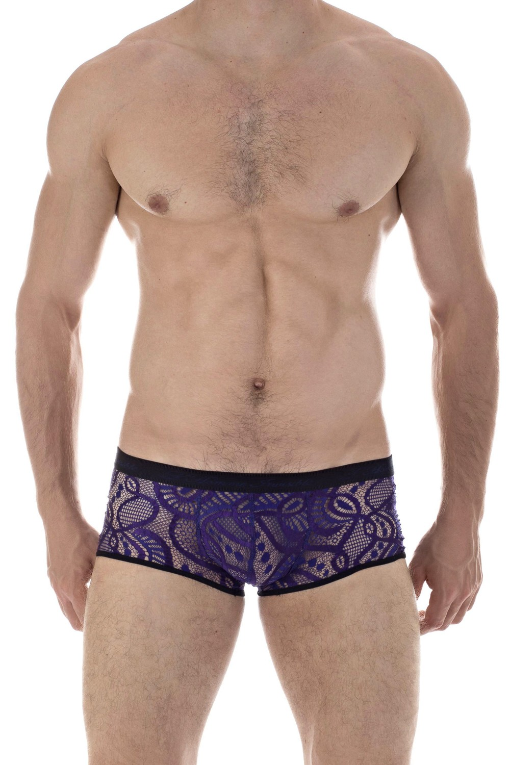 3 Pieces Men's Lace Low Rise Brief Underwear,T-Back /& See Through