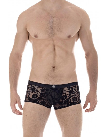 Imperial Black - mens Push Up enhancing Trunks ith u pouch in velvet