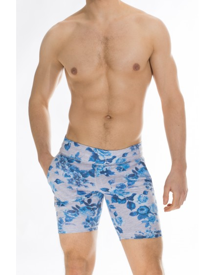 Flower Power - Fitlad Shorts - Mens Fitted jersey shorts floral print