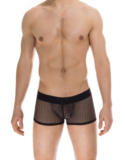 1a85d8298b6f Viridios Black - V boxer Push UP - mens enhancing lace underwear with u  push up