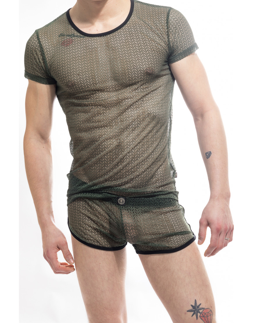 7ce7d51776 Atlas T shirt   Men's Erotic Tshirt in lace by L'HOMME INVISIBLE ...