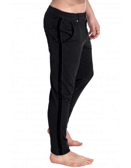 Basel Jersey black slim fit Pants for men