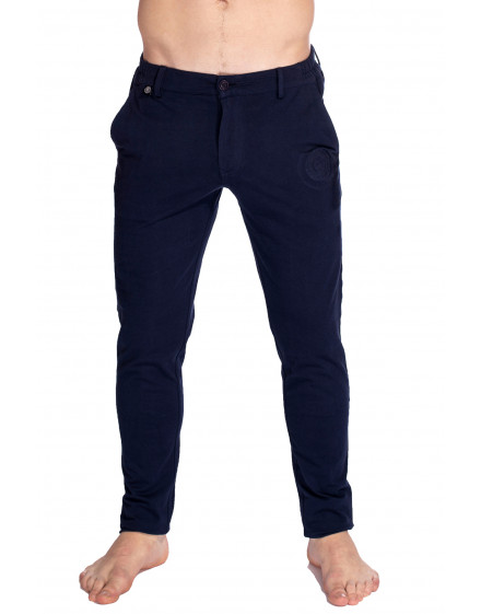 Basel Jersey slim fit lounge Pants in Navy for men
