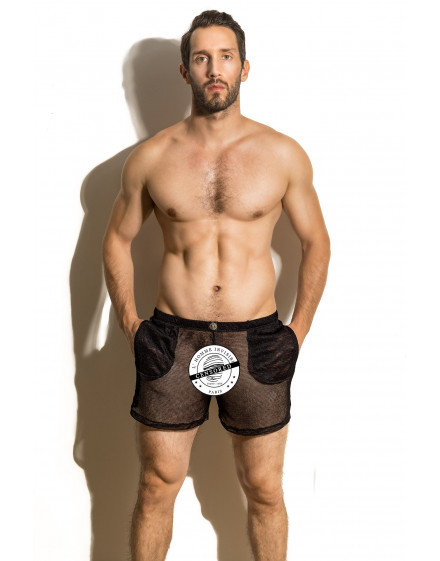 Fishnet erotic Short in mesh for men